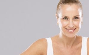 woman smiling with botox